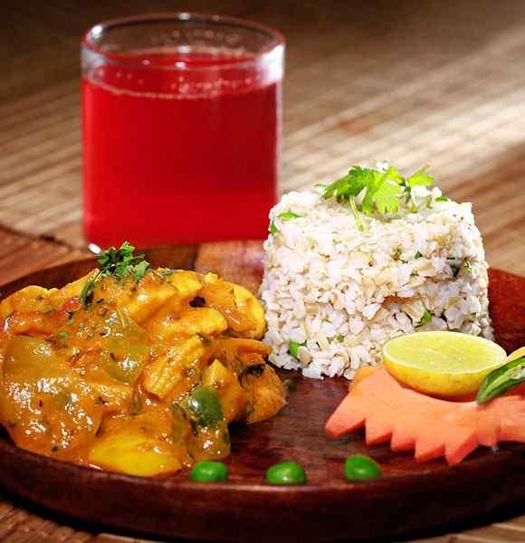 Non Veg Lunch Indian Low Calorie Medium Portion